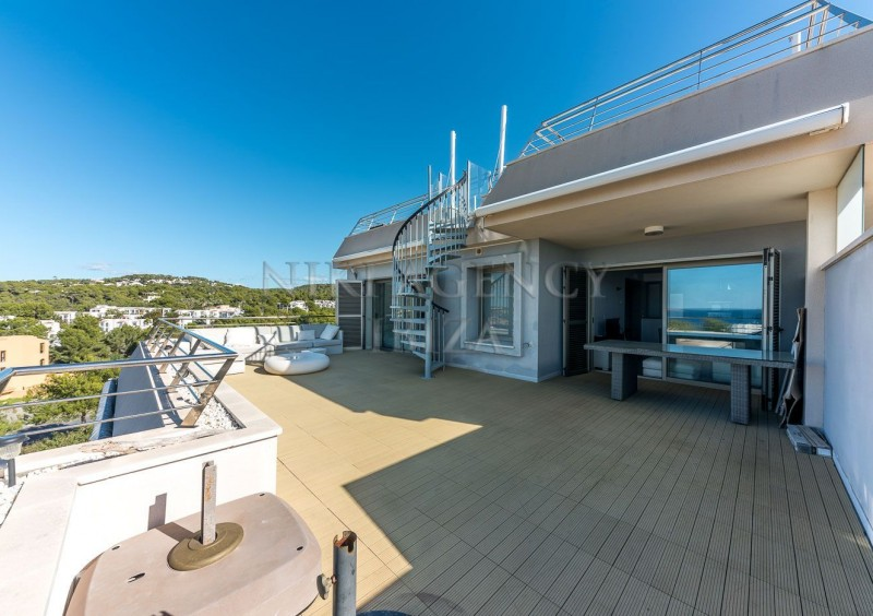 Penthouse in Cala Tarida with seaview-AVE10913