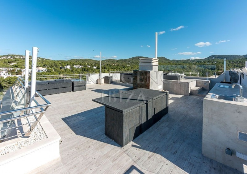 Penthouse in Cala Tarida with seaview-AVE10915
