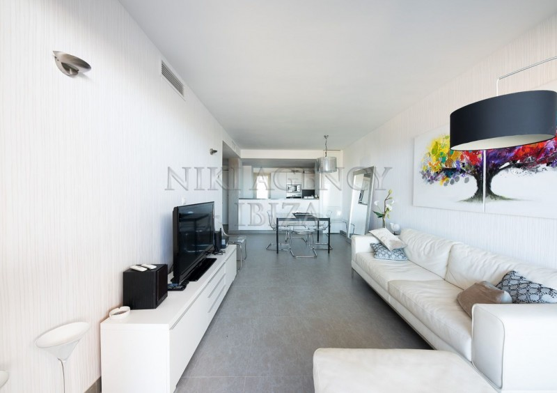 Penthouse in Cala Tarida with seaview-AVE10922