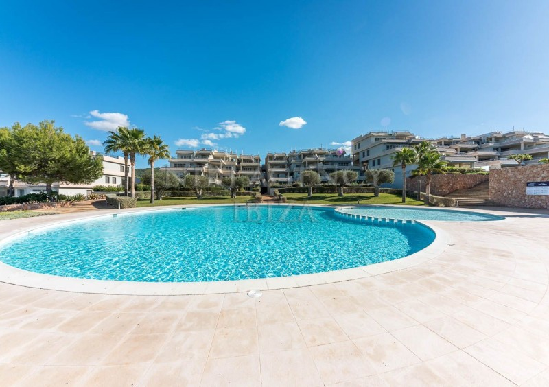 Penthouse in Cala Tarida with seaview-AVE10931