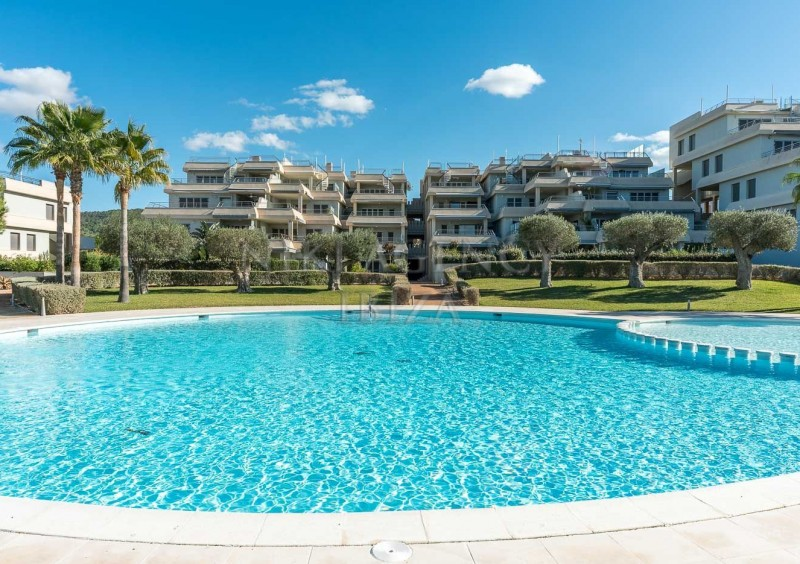 Penthouse in Cala Tarida with seaview-AVE10932