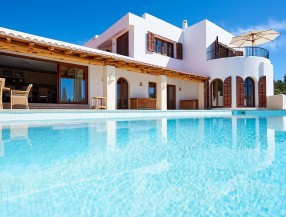 Villa in Ibiza Cala Tarida with sea view