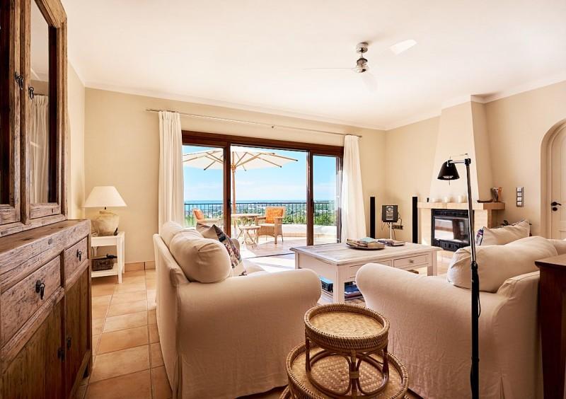 Villa in Ibiza Cala Tarida with sea view