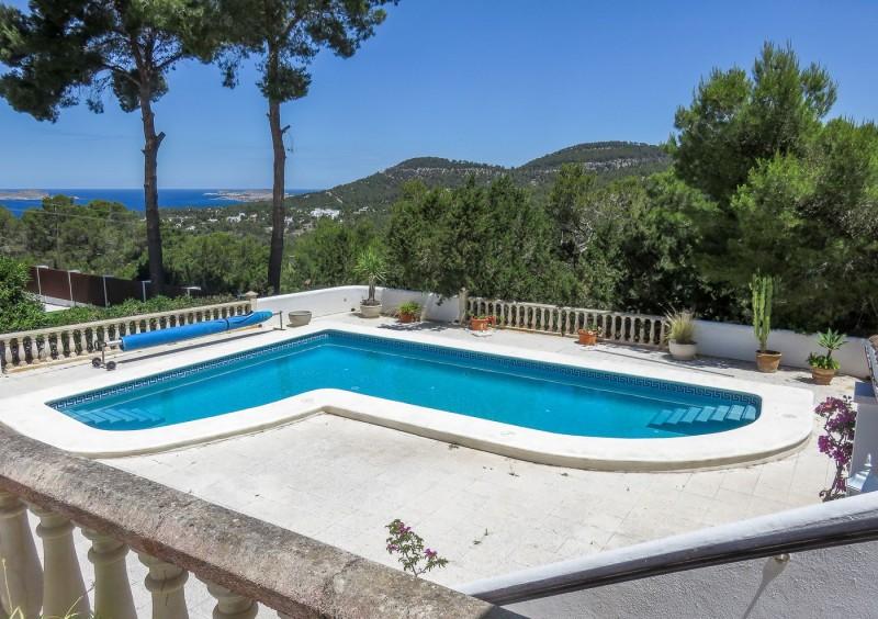House in Ibiza Cala Vadella with sea view