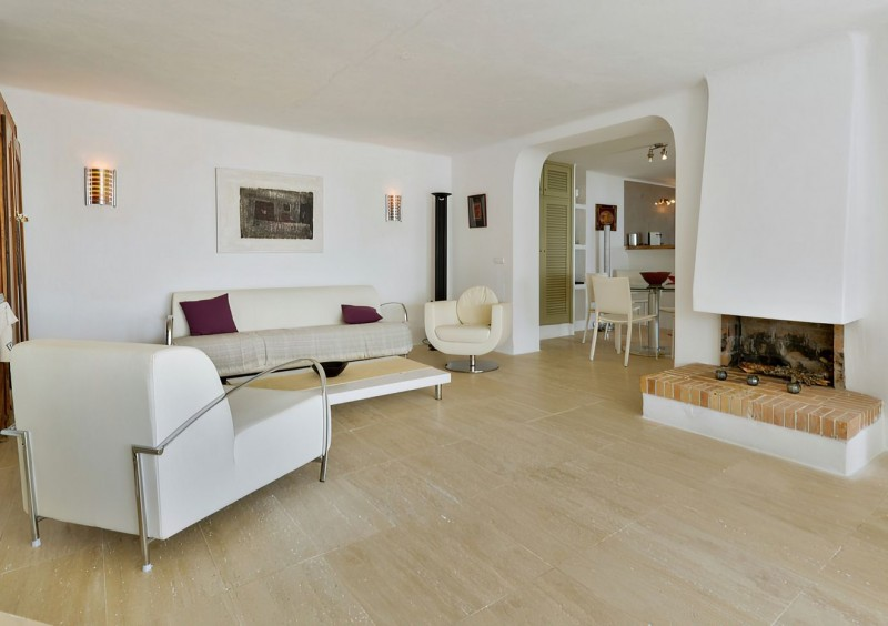 Villa en Ibiza Es Cubells en primera linea del mar