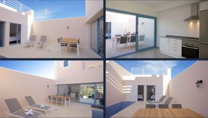 Terraced house in Cala Tarida with 3 bedrooms